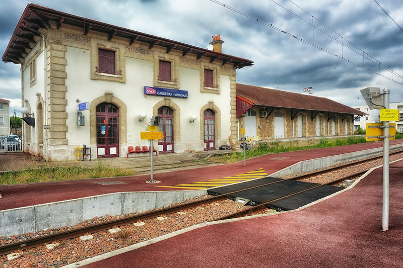 Train station in French countryside